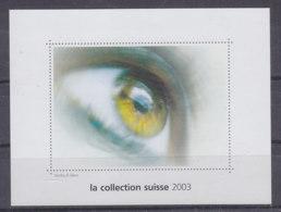 SCHWEIZ  Vignette 2003: Briefmarke In Braille-Schrift, Aus: Jahrbuch 2003 Der Schweizer Post, Auge Blind - Erinnophilie