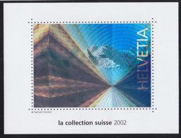 SCHWEIZ  Vignette 2002: Briefmarke Mit Hologramm, Aus: Jahrbuch 2002 Der Schweizer Post - Erinnophilie
