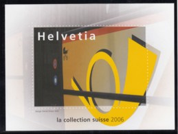 SCHWEIZ  Vignette 2006: 100 Jahre Post-Auto, Aus: Jahrbuch 2006 Der Schweizer Post, Posthorn - Erinnophilie