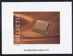 SCHWEIZ  Vignette 2001: Schweizer Schokolade, Aus: Jahrbuch 2001 Der Schweizer Post - Erinnophilie