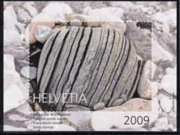 SCHWEIZ  Vignette 2009: Schützen Wir Die Gletscher, Aus: Jahrbuch 2009 Der Schweizer Post, Gletscherstein - Erinnophilie