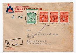 1949 YUGOSLAVIA, SLOVENIA, BLED TO ZRENJANIN, GRAND HOTEL TOPLICE COVER, REGISTERED MAIL - 1945-1992 Socialist Federal Republic Of Yugoslavia