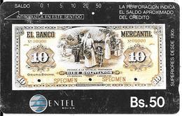 CARTE-MAGNETIQUE-BOLIVIE-BS50-ENTEL-BILLET De BANQUE -BE-RARE - Bolivia