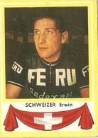 Schweizer Erwin Kaartje Chromo (5 X 7 Cm) Coureur Wielrenner Renner Cycliste Velo Fiets Bicyclette Cyclisme - Cyclisme