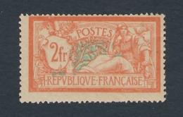 FRANCE 1907 TYPE MERSON 2fr  Nº 145 * MH CAT 55€ - 1900-27 Merson