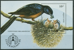 Vietnam 1986 STOCKHOLMIA '86: Schamadrossel Block 47 Postfrisch (C30432) - Vietnam