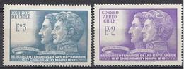 CHILI 1968  Mi.nr. 677-678 Unabhängigkeit...  NEUF Sans CHARNIERE / MNH / POSTFRIS - Chili