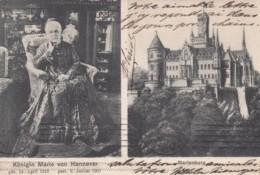 Queen Marie Of Hannover Memoriam And Marienburg Castle, 1900s Vintage Postcard - Koninklijke Families