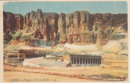POSTAL ANTIGUA DE EGIPTO. THEBES. TEMPLE OF DER-EL-BARHI. (1022). - Historia