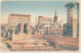 POSTAL ANTIGUA DE EGIPTO. LUXOR. VIEW SHOWING MOSQUE BUILT IN TEMPLE OF LUXOR. (1023). - Historia