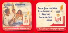 Mat,Coaster For Drink-Tobacco Cigarettes Lord Extra -Commercials Advertising Yugoslavia - Articoli Pubblicitari