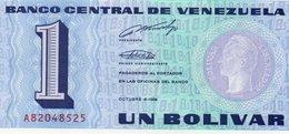 VENEZUELA=1989    1  BOLIVARE      P-68      UNC - Venezuela
