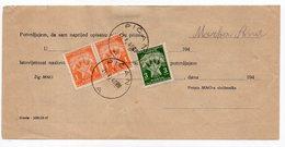 1948 VUJA,ISTRIA,YUGOSLAVIA,PIĆAN,ITALIAN PEDENA,DELIVERY CARD - 1945-1992 Socialist Federal Republic Of Yugoslavia