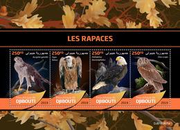 DJIBOUTI 2019 - Birds Of Prey, Owl. Official Issue [DJB190605a] - Búhos, Lechuza