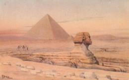 POSTAL ANTIGUA DE EGIPTO. THE GREAT PYRAMIDS OF GIZA BUILT BY CHEOPS 2900 B.C. & THE SPHINX. Nº 119. (1026). - Historia
