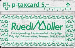 Switzerland: PTT KP-93/232 311L Ruedi Müller, Gärtnermeister - Svizzera