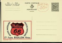 Publibel Neuve N° 1472 M   ( Ets Frantz Bouillon - Virton   - Huiles Moteur PHILLIPS  66) - Enteros Postales