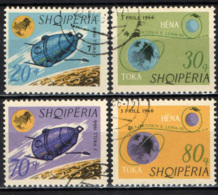 ALBANIA - 1966 - Launching Of The 1st Artificial Moon Satellite, Luna - USATI - Albania