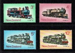 New Zealand 1973 Trains Set Of 4 Mint - Nouvelle-Zélande