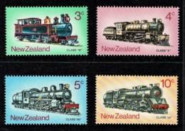 New Zealand 1973 Trains Set Of 4 MNH - - Ongebruikt