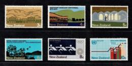 New Zealand 1973 Anniversaries Set Of 6 Mint - Nouvelle-Zélande