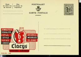 Publibel Neuve N° 1488  ( CLAEYS  - Brugge - Bruges  Ours - Gland - Meubles) - Publibels