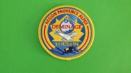 Ecusson Tissu Sécurité Civile Déminage Toulon - Blazoenen (textiel)