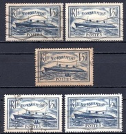 1935 FRANCE NORMANDIE 5x Sets MICHEL: 297 USED - Gebraucht