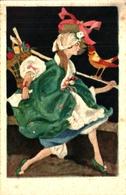18 Illustration Italien Indéterminé Femme (degami 1044) - Illustrateurs & Photographes
