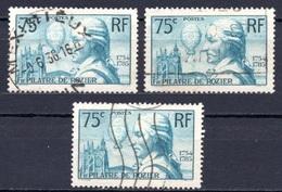 1936 FRANCE P. DE ROZIER 3x Sets MICHEL: 318 USED - Gebraucht