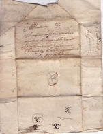 FRANCE LETTRE DE 1691 DE PARIS POUR MONSIEUR GAFFARD  A GRENOBLE - Postmark Collection (Covers)