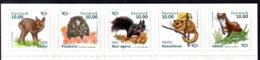 2020 Denmark - Norden Joint Issue Mamals Of The Norden Countries - Strip Of 5 V S.adh. MNH** Dear, Handgehog, Squirrel - Gemeinschaftsausgaben