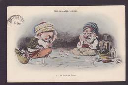 CPA Assus Illustrateur Arabe Satirique Caricature Circulé Jeu De Cartes Playing - Astus