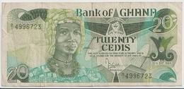 GHANA P. 24a 20 C 1984 VF - Ghana