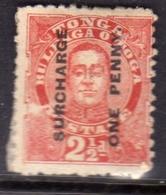 TONGA TOGA 1895 KING GEORGE II SURCHARGE ONE PENNY 1p On 2 1/2d MH - Tonga (...-1970)