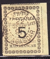 FRENCH MADAGASCAR FRANCESE MALGACHE MALAGASY REPUBLIC 1895 POSTES FRANCAISES CENT. 5c USATO USED OBLITERE' - Used Stamps