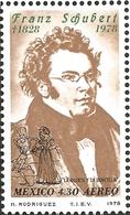 J) 1978 MEXICO, SCHUBERT (1797-1828), AUSTRIAN COMPOSER, FRANZ SCHUBERT, DEATH AND THE MAIDEN, SCOTT C587, MN - Mexico
