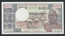 CONGO 1000 FRANCS 1984  VF - Congo