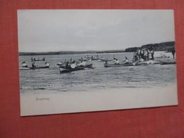 Rotograph   Boating On Lake  Pocono Pines Assembly  Pocono Pines  Pennsylvania  Ref 3885 - Vereinigte Staaten