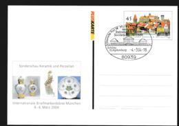 Germany Pluskarten 1000 Jahre Kronach W/print Sonderschau Keramik Und Porzelland Used München 2004 (G109-49) - [7] Federal Republic