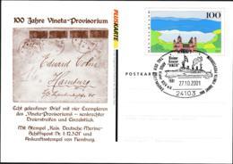 Germany Pluskarten Eifel W/print 100 Jahre Vineta-Provisorium Used Kiel 2001 (G109-49) - [7] Federal Republic