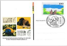 Germany Pluskarten Eifel W/print Briefmarken-Börse Sindelfingen Used Sindelfingen 2001 (G109-49) - [7] Federal Republic