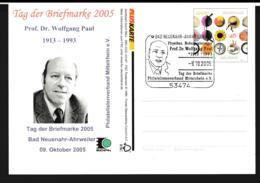 Germany Pluskarten Ferien W/print Tag Der Briefmarke 2005 Posted Bad Neuenahr-Ahrveiler 2005 (G109-49) - [7] Federal Republic