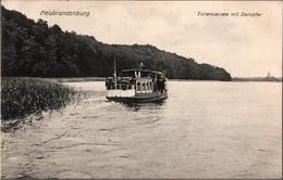 ! Alte Ansichtskarte Aus Neubrandenburg, Tollensersee, Dampfer, 1910, An Paul Karstadt, Lübeck - Neubrandenburg