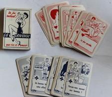 Jeu 32 Cartes LA GRIVOISE Pour Rire Et S'amuser 16 Bleues Pour Messieurs 16 Rouges Pour Dames Coquin Vintage 1950 /1960 - 32 Kaarten