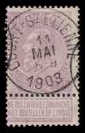 "COB N° 67 LILLA/BLANC - Belle Obl. ""COURT-St-ETIENNE"" - 1893-1900 Thin Beard"