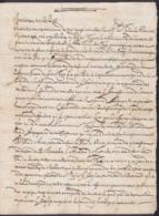 L. Datée 27 Novembre 1700 De ROME - Voir Texte Sur L'Eglise, Le Pape Et Les Guerres En Italie, Espagne Et Europe - Historische Dokumente