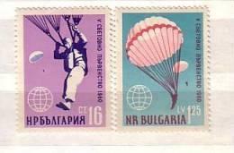 1960 Sport Parachute Championship  2v.-MNH Bulgaria / Bulgarie - Bulgarie