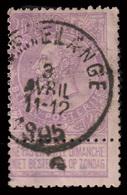 "COB N° 66 LILLA / ROSE - Obl.  ""MARTELANGE"" - 1893-1900 Thin Beard"