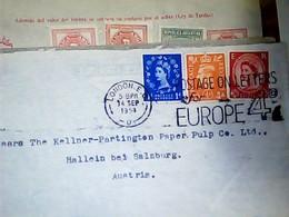 ENGLAND  FOR EUROPE  ITALIA 4 D  1 + 1,5 + 0,5 D STAMP  SELO TIMBRE  VB1954  HK4826 - 1952-.... (Elizabeth II)